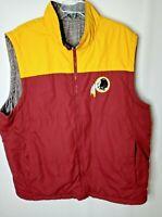 GIII NFL Washington Redskins NFL Football Reversible Vest Jacket Mens Size XXL