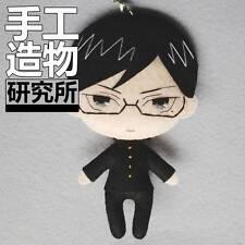 Japanese Anime Sakamoto desu ga? Costume Cute DIY Toy Doll Keychain Material MH