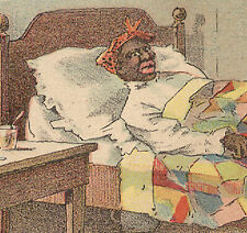 """1880s ETHNIC RACIST BLACK, """"TEXAS SIFTINGS"""" ARBUCKLE COFFEE TRADE CARD #64  A187"""