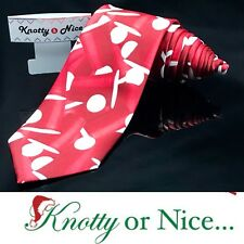 Knotty & Nice  Beer 🍻 Pong Game Cup Funny Red Luxury Dapper Suit Fashion Tie