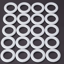 Set of 20 Round Plastic Ring for Eyelet Curtain Circle Slide Rings White
