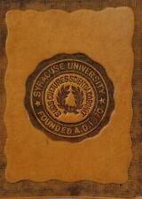 Antique New York Syracuse University College Seal c1910 Leather Tobacco Premium