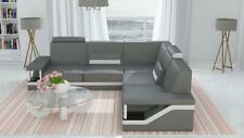Leather Sofa Corner Couch Poster Set Fabric New