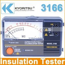 Kyoritsu 3166 Analogue Insulation Continuity Tester - Brand New !!