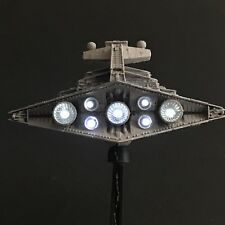 PRO BUILT Mini Imperial Star Destroyer With FULL LIGHTING Prop Replica Star Wars