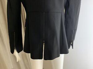 Burberry 100%GENUINE Black Jacket Blazer Wool Blend Size UK 10 Brand New