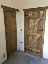 BEAUTIFUL RUSTIC OLD WORLD RECLAIMED TIMBER LEDGE And Brace  DOORS WITH EXTRAS