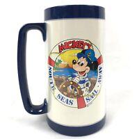 Vtg Walt Disney World Mickeys South Seas Sail Away Thermo Serv Cup Mug Plastic