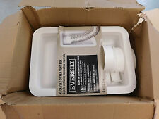 New Recessed Gas-Electric Dryer Vent Box Quick Protector Classic Plastic White
