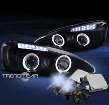 2004-2008 PONTIAC GRAND PRIX HALO LED PROJECTOR HEADLIGHT LAMP BLACK +8000K HID