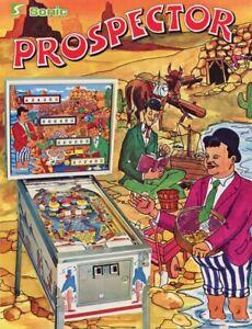 Prospector Pinball Machine Flyer Laurel & Hardy Original Sonic Brochure