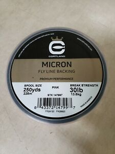 Cortland Micron Braided Fly Line Backing - 250yds 30lbs Pink