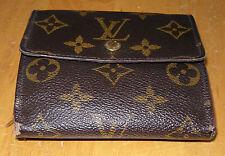 Auth Louis Vuitton Portfoil Leder Geldbörse (Trifold) gebraucht 10,5x10x2cm