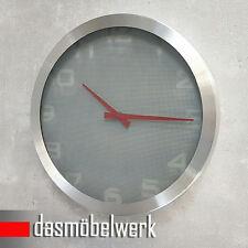 Nextime Design Raster Wanduhr Glas Quarz Alu Uhr Küchenuhr Bahnhofsuhr 0000038