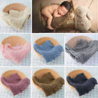 Newborn Photography Props Baby Photo Blanket Baby Posing Knitting Wool Blankets