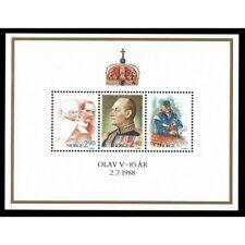 FR3239 - 1988 Norvegia compleanno Re Olav foglietto