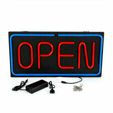 New Neon Open Sign Led Wall & Window Hanging Business Light Decor Bar 24x12in