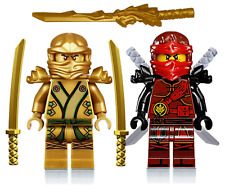 LEGO NINJAGO GOLDEN NINJA LLOYD & FIRE KAI MINIFIGURE. MECH SET. DRAGON SWORD