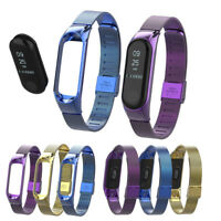 For Xiaomi Mi Band 3 Watch Milanese Magnetic Loop Wrist Strap Metal Wristband