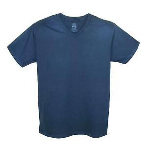New Fruit of the Loom Big and Tall V Neck Cotton T Shirt