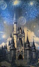 Disney Parks Authentic Cinderella Castle Soft Plush Fleece Throw Blanket 60x40
