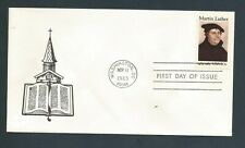 US Stamps FDC MARTIN LUTHER #2065 / DRC Cachet / 1983