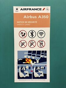 AIR FRANCE SAFETY CARD — AIRBUS 350–2019