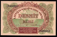 LETTLAND LATVIA 10 Rubli Rubel 1919 P 4 UNC (1)