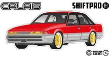 VL Calais Holden Commodore Sticker - Red with Gold Simmon Rims - ShiftPro Brand