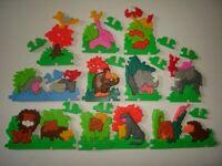 KINDER SURPRISE SET - 3D PUZZLE JUNGLE ANIMALS 1992 - TOYS COLLECTIBLES