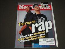 2000 OCTOBER 9 NEWSWEEK MAGAZINE - EMINEM & DR. DRE FRONT COVER - K 1143