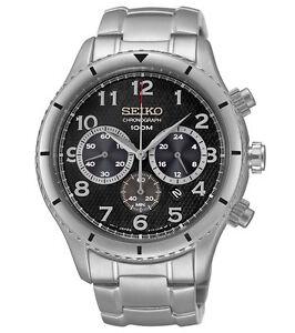 Seiko SRW037 SRW037P1 Mens Chronograph Watch WR100m NEW RRP $595.00