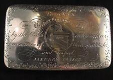 Coin Silver Snuff Box Barker Gummere Esq Lawyer Trenton New Jersey 1862