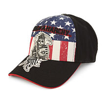 Sons Of Anarchy Reaper Logo Patch Fitted Baseball Cap Hat