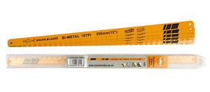 "Hacksaw Blades Bi-Metal  300mm 12"" Choose 18 24 32 TPI In handy case by SHARK"
