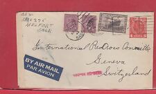 DB 248 Censor trans-ATlantic airmail to Switzerland 1944 Canada cover