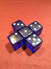 5 Blue 19mm Premium Dice