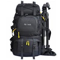 """Large Waterproof DSLR SLR Camera Backpack Rucksack 15.6"""" Laptop Bag + Rain Cover"""