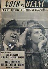 RITA HAYWORTH et VILLAPADIERNA en COUVERTURE de NOIR et BLANC No 405 DE 1952