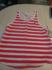 US POLO ASSN Women's Athletic Feel Dry Tank Top Size Large Pink & White NEW