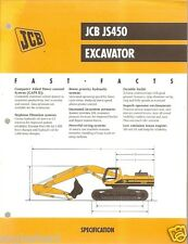 Equipment Brochure - JCB - JS450 - Excavator - 1999 (EB396)
