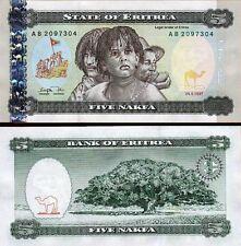 ERITREA - 5 nakfa 1997 FDS - UNC