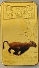 Somalia 2013 Goldplated Color Rectangular 25 shilling-Fauna-Lion