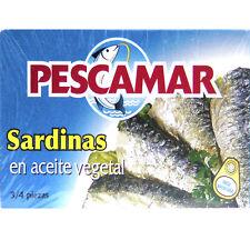lot de 5 boites de  sardines à l'huile végétale marque Pescamar