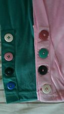 New Women Green trousers Pants Buttons Stretch Waist Skinny Tight Medium UK Leg