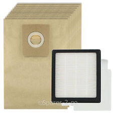 HEPA Filter Pad Kit + 10 Bags for NILFISK GM210 GM310 GM320 GM330 Vacuum Hoover