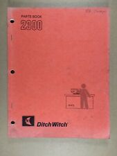 Ditch Witch 2300 Trencher Parts Book 1986 050 616