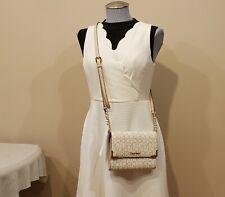 NWT Calvin Klein Signature Small Crosbody Handbag H6JEJ2WE Desert Taupe $148