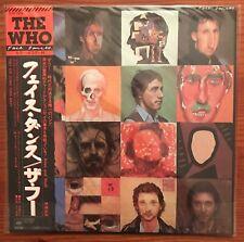 THE WHO - FACE DANCES - Vinyl LP - Japanese - OBI - INSERT
