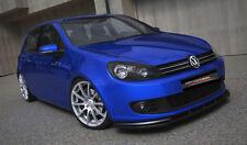 Spoilerlippe für VW Golf 6 VI Lippe Frontspoiler Schwert Diffusor Ansatz ABS CUP